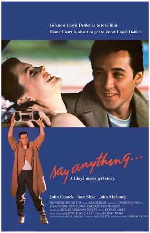 Say Anything Lloyd Meets Girl John Cusack 11x17 Poster