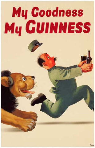 Guinness My Goodness Lion 11x17 Poster