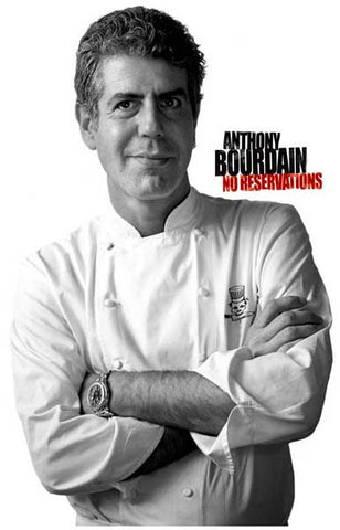Chef Anthony Bourdain No Reservations 11x17 Poster