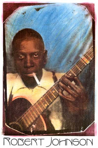 Robert Johnson Blues Guitar Poster