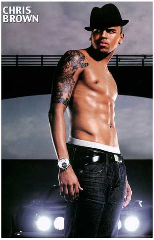 Chris Brown Portrait Poster