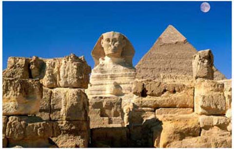 Ancient Egyptian Pyramids and Sphinx Poster
