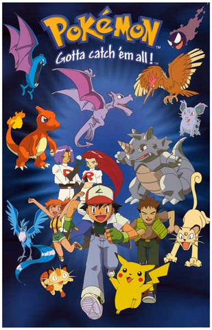 Pokemon Cartoon Poster