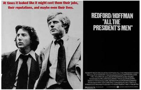 All the President's Men Redford Hoffman 11x17 Poster