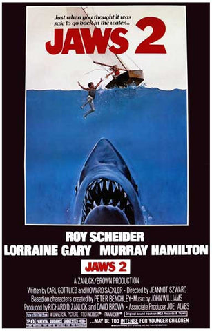 Jaws 2 Just When You Thought it Was Safe 11x17 Poster