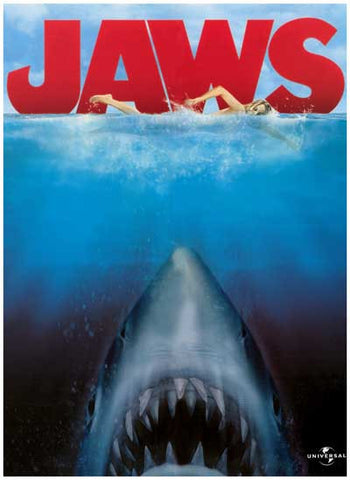 Jaws Swimmer and Shark 11x17 Poster