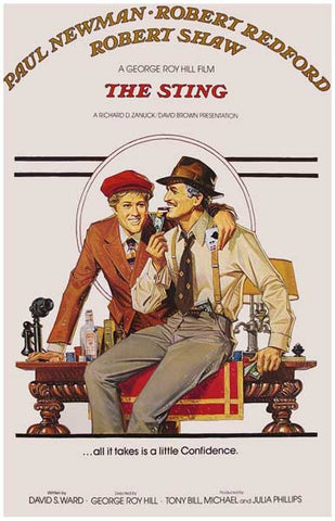 The Sting Paul Newman Robert Redford 11x17 Poster