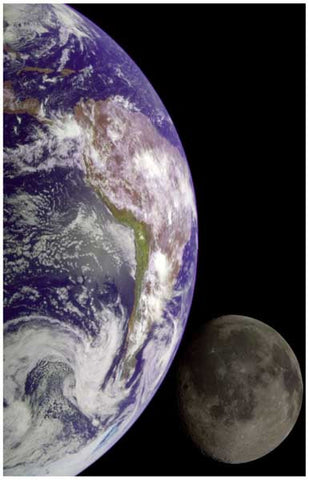 The Earth and The Moon Poster