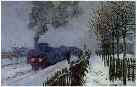 Claude Monet Train in the Snow Poster