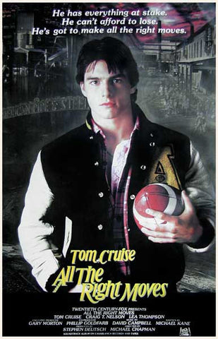 All the Right Moves Tom Cruise 11x17 Poster