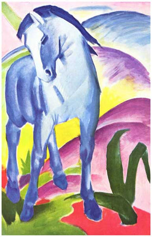 Blue Horse Franz Marc German Expressionism 11x17 Poster