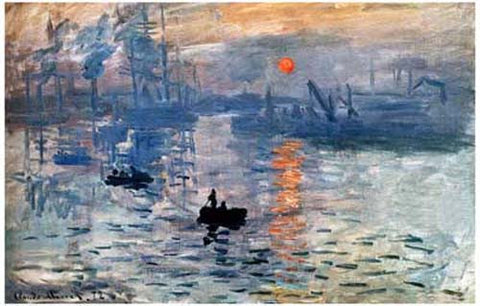 Claude Monet Impression Sunrise Poster