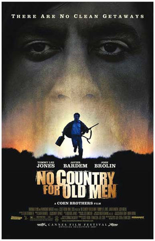No Country For Old Men No Clean Getaways 11x17 Poster