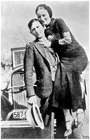 Bonnie & Clyde Love on the Lam Portrait 11x17 Poster