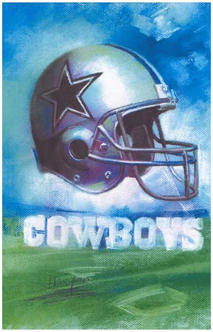 Dallas Cowboys Helmet Art Football 11x17 Poster
