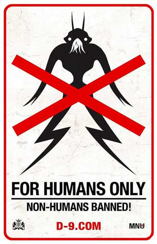 District 9 For Humans Only No Prawns 11x17 Poster