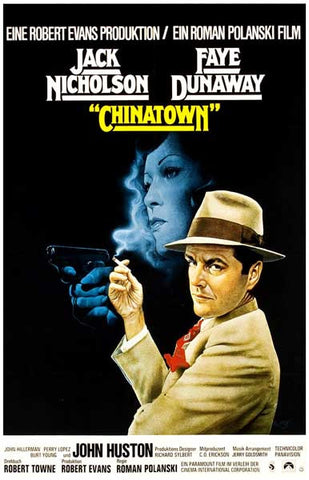 Chinatown Nicholson Dunaway German Text 11x17 Poster