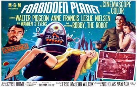 Forbidden Planet Robby the Robot 11x17 Poster