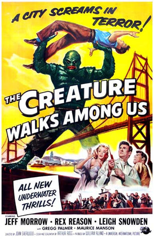 The Creatue Walks Among Us Movie Poster