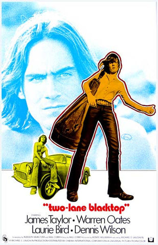Two-Lane Blacktop Retro James Taylor 11x17 Poster