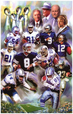 Dallas Cowboys Football Team Poster