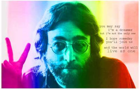 John Lennon Imagine Peace Poster