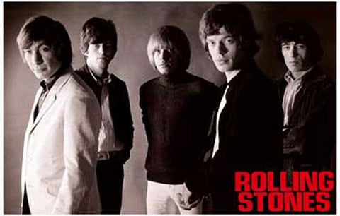 Rolling Stones Band Poster
