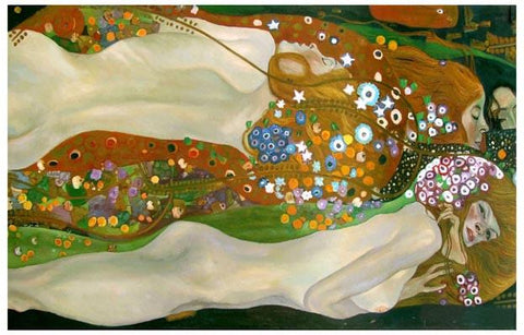 Gustav Klimt Bisce d'acqua Water Serpents Poster