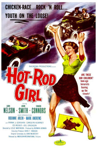 Hot Rod Girl Youth on the Loose! 12x18 Poster