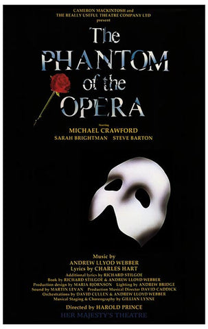 Phantom of the Opera Original British Cast Poster