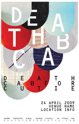 Death Cab For Cutie Band Poster