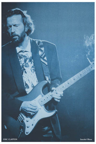 Eric Clapton Slow Hand Blues Poster