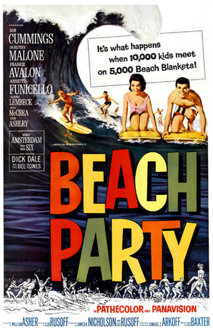 Beach Party Avalon Funicello Beach Blanket 11x17 Poster