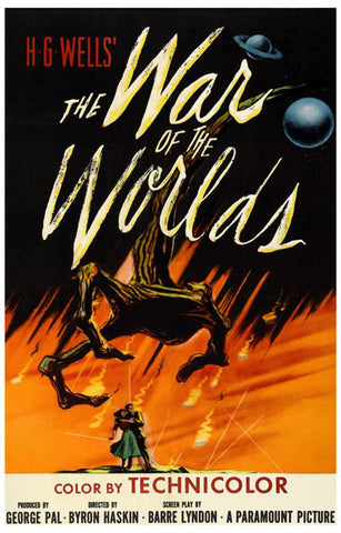 War of the Worlds HG Wells Martian Attack 11x17 Poster