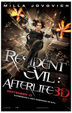 Resident Evil Afterlife 3D Milla Jovovich 11x17 Poster