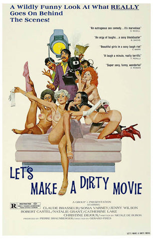 Let's Make a Dirty Movie Claude Brasseur 11x17 Poster