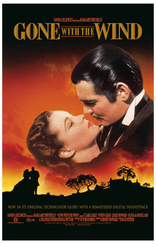 Gone with the Wind Scarlet Rhett Kiss 11x17 Poster