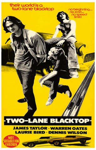 Two-Lane Blacktop No Speed Limit 11x17 Poster
