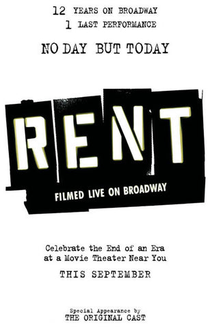 Rent Broadway Show Poster