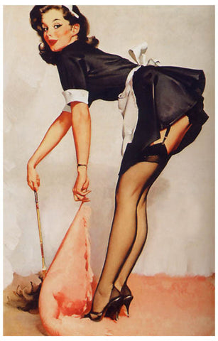 French Maid Pin-up Girl Poster