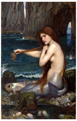 John William Waterhouse Mermaid Poster