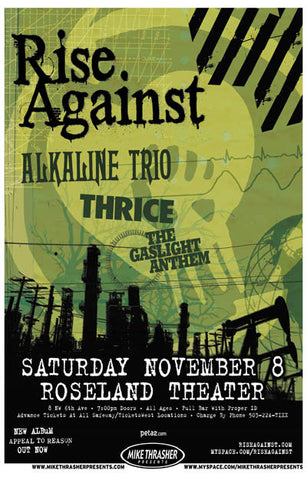 Rise Against Concert Poster