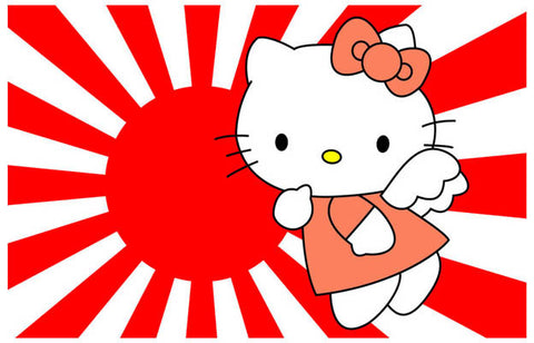 Hello Kitty Japanese Flag Poster