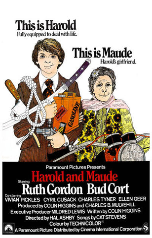 Harold and Maude Fully Equipped Bud Cort 11x17 Poster