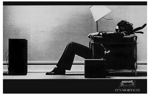 Maxell Tape Guy Blown Away 11x17 Poster