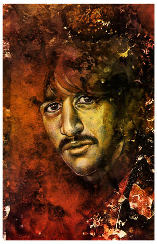 Ringo Starr Let It Be Psychedelic Beatles 11x17 Poster