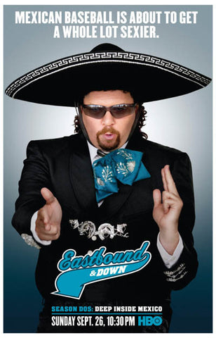 Eastbound & Down Mexican Baseball Kenny 11x17 Poster