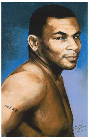 Mike Tyson Gentle Mike Portrait Art Boxing 11x17 Poster