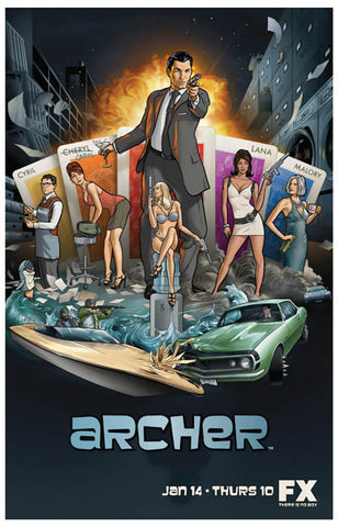 Archer Cartoon TV Show Poster