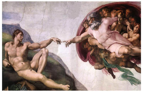 Michelangelo Creation of Adam Poster